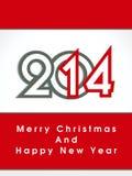 Feliz Año Nuevo creativa 2014 y cartel del partido de la Navidad design.celebration, bandera o invitaciones. Fotos de archivo libres de regalías
