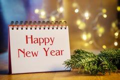 Feliz Año Nuevo de la carpeta de anillo Fotos de archivo libres de regalías
