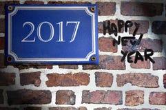 Feliz Año Nuevo de la etiqueta Foto de archivo