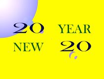 Feliz Año Nuevo de la imagen ilustración del vector