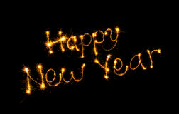 Feliz Año Nuevo de la inscripción Imágenes de archivo libres de regalías