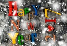 Feliz Año Nuevo de la inscripción de madera Fotos de archivo