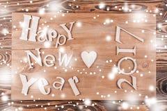Feliz Año Nuevo de la inscripción multicolora Imagen de archivo libre de regalías