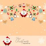 Feliz Año Nuevo de la Navidad del modelo ilustración del vector