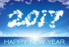 Feliz Año Nuevo de la nube del cielo Fotos de archivo