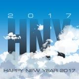 Feliz Año Nuevo de la nube del cielo Foto de archivo