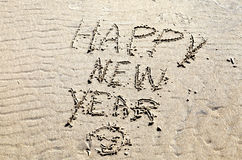 Feliz Año Nuevo de la playa Imagen de archivo