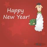 Feliz Año Nuevo 2015 de la postal Imágenes de archivo libres de regalías