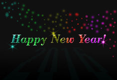 Feliz Año Nuevo de la postal ilustración del vector