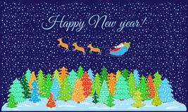 Feliz Año Nuevo de la postal stock de ilustración