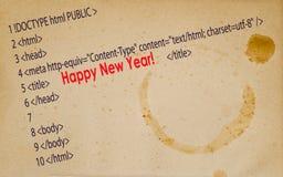 ¡Feliz Año Nuevo de la postal! Fotografía de archivo libre de regalías