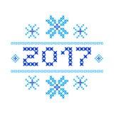 Feliz Año Nuevo 2017 de la postal Punto de cruz libre illustration