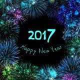 Feliz Año Nuevo 2017 de la tarjeta de felicitación Foto de archivo libre de regalías