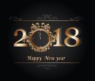 Feliz Año Nuevo 2018 de la tarjeta de felicitación fotografía de archivo