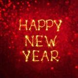 Feliz Año Nuevo de la tarjeta de felicitación Imagen de archivo libre de regalías