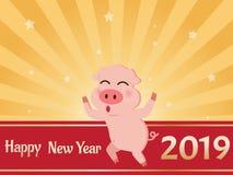 Feliz Año Nuevo 2019 de la tarjeta de felicitación
