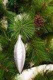 Feliz Año Nuevo de las decoraciones del árbol de navidad Imagenes de archivo
