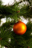 Feliz Año Nuevo de las decoraciones del árbol de navidad Imagen de archivo libre de regalías