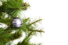 Feliz Año Nuevo de las decoraciones del árbol de navidad Fotografía de archivo libre de regalías