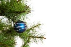 Feliz Año Nuevo de las decoraciones del árbol de navidad Fotografía de archivo