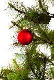 Feliz Año Nuevo de las decoraciones del árbol de navidad Imágenes de archivo libres de regalías
