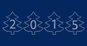 Feliz Año Nuevo 2015 de las estrellas Imágenes de archivo libres de regalías
