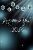 Feliz Año Nuevo de las luces azules Fotografía de archivo libre de regalías