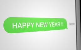 Feliz Año Nuevo de SMS Fotografía de archivo libre de regalías