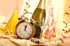 Feliz Año Nuevo - decoración del partido Fotos de archivo