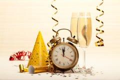 Feliz Año Nuevo - decoración del partido Imágenes de archivo libres de regalías