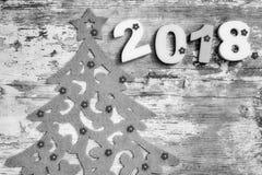 Feliz Año Nuevo 2018 Decorationm de la Navidad Fotografía de archivo