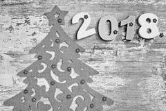 Feliz Año Nuevo 2018 Decorationm de la Navidad Fotos de archivo
