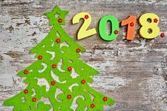 Feliz Año Nuevo 2018 Decorationm de la Navidad Imagen de archivo libre de regalías