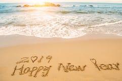 Feliz Año Nuevo 2019 del amor Fotografía de archivo libre de regalías