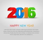 Feliz Año Nuevo 2016 del cartel Fotografía de archivo