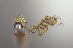 ¡Feliz Año Nuevo del cordero de oro! Fotos de archivo libres de regalías