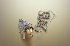 ¡Feliz Año Nuevo del cordero de oro! imagenes de archivo