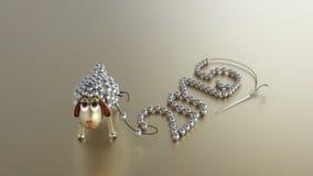 ¡Feliz Año Nuevo del cordero de oro! fotografía de archivo libre de regalías