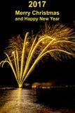 Feliz Año Nuevo del fondo Fotos de archivo