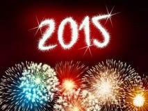 Feliz Año Nuevo del fuego artificial 2015 Fotos de archivo libres de regalías