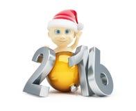 Feliz Año Nuevo 2016 del niño Imagen de archivo