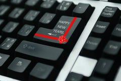 Feliz Año Nuevo del teclado Imagen de archivo