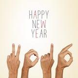 Feliz Año Nuevo 2016 del texto Foto de archivo libre de regalías