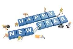 Feliz Año Nuevo del trabajador de la palabra miniatura de la formación de equipo Fotos de archivo libres de regalías