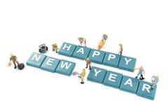 Feliz Año Nuevo del trabajador de la palabra miniatura de la formación de equipo Imagenes de archivo