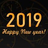Feliz Año Nuevo del vector 2019 imagen de archivo libre de regalías