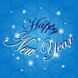 Feliz Año Nuevo Ejemplo del vector del día de fiesta Fondo del invierno Imagen de archivo libre de regalías