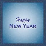 Feliz Año Nuevo Ejemplo del vector del día de fiesta Fondo del invierno Foto de archivo libre de regalías