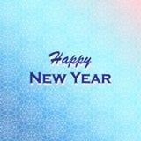 Feliz Año Nuevo Ejemplo del vector del día de fiesta Fondo del invierno Fotografía de archivo libre de regalías