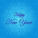 Feliz Año Nuevo Ejemplo del vector del día de fiesta Fondo del invierno Foto de archivo